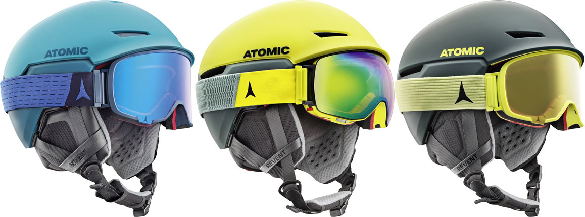 Atomic Revent helm en bril